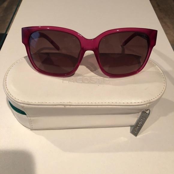 56ec235e7678 Lacoste Accessories - Women s pink Lacoste sunglasses.